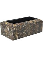 Кашпо Oceana cracked pearl table planter rectangle black brown L40 H13 W22 6OCETB347