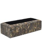 Кашпо Oceana cracked pearl table planter rectangle black brown L55 H13 W22 6OCETB447